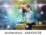 industry and internet of things ... | Shutterstock . vector #666434158