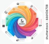 business infographics design... | Shutterstock .eps vector #666436708