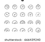 speedometer ui pixel perfect... | Shutterstock .eps vector #666439240