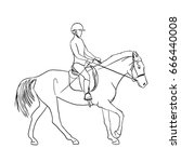 equestrian sports theme vector...