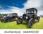 TAIN, SCOTLAND - JUNE 18 2017: Model T Ford at a Vintage Rally. - stock photo