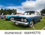 TAIN, SCOTLAND - JUNE 18 2017: Classic Rambler at vintage car rally - stock photo