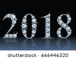 text from diamonds 2018  eps10... | Shutterstock .eps vector #666446320