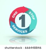 one stop services icon. vector... | Shutterstock .eps vector #666448846