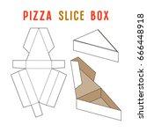 stock vector box for pizza... | Shutterstock .eps vector #666448918