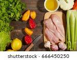 healthy diet italian lifestyle  ... | Shutterstock . vector #666450250