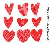 heart icons   Shutterstock .eps vector #666451633