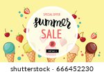 summer sale banner template.... | Shutterstock .eps vector #666452230