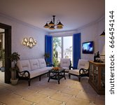rustic provence spanish...   Shutterstock . vector #666454144