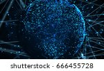 abstract network connection... | Shutterstock . vector #666455728