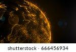 technology concept abstract... | Shutterstock . vector #666456934