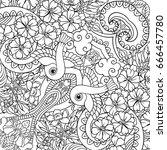 vector abstract nature line art ... | Shutterstock .eps vector #666457780
