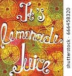 this lemonade juice  hand  ... | Shutterstock .eps vector #666458320