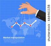 the businessman's hand...   Shutterstock .eps vector #666461158