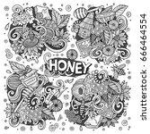 vector hand drawn doodle... | Shutterstock .eps vector #666464554