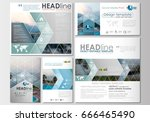 social media posts set.... | Shutterstock .eps vector #666465490