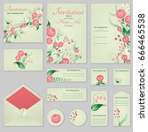 collection greeting cards with...   Shutterstock .eps vector #666465538