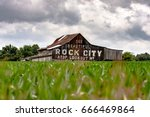 traditional weathered barn in... | Shutterstock . vector #666469864