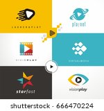 media and video production set...   Shutterstock .eps vector #666470224