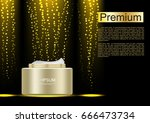 cosmetic cream with small gold...