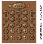 cartoon circle buttons set  app ... | Shutterstock .eps vector #666475324