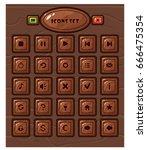 cartoon square buttons set  app ... | Shutterstock .eps vector #666475354