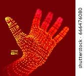 human arm. hand model.... | Shutterstock .eps vector #666476080