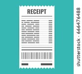 receipt icon. invoice sign.... | Shutterstock .eps vector #666476488
