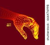 human arm. hand model.... | Shutterstock .eps vector #666476998