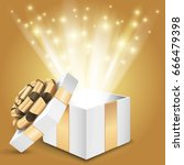 Gift Box With Shining Light....