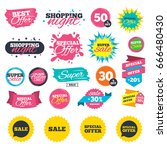 sale shopping banners. sale... | Shutterstock .eps vector #666480430