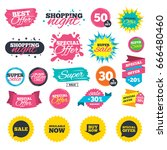sale shopping banners. sale... | Shutterstock .eps vector #666480460