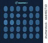 big vector fingerprint icons...