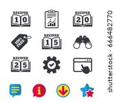 cookbook icons. 10  15  20 and...