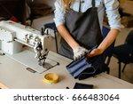 leather handbag craftsman at... | Shutterstock . vector #666483064