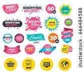 sale shopping banners. online...   Shutterstock .eps vector #666484588