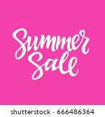 summer sale   vector hand drawn ... | Shutterstock .eps vector #666486364