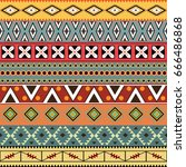 aztec seamless pattern. vector. | Shutterstock .eps vector #666486868