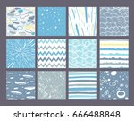 hand drawn pattern collection.... | Shutterstock .eps vector #666488848