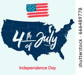 fourth of july  united stated... | Shutterstock .eps vector #666489778