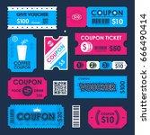 coupon  gift voucher ticket... | Shutterstock .eps vector #666490414