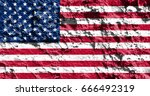 flag of united states | Shutterstock . vector #666492319