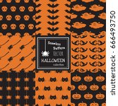 seamless vector pattern happy... | Shutterstock .eps vector #666493750