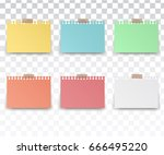 colorfull and white stickers... | Shutterstock .eps vector #666495220