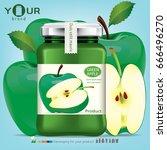 apple bottle design.vector | Shutterstock .eps vector #666496270