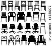 chair set black | Shutterstock .eps vector #66650071