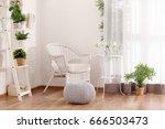 beautiful modern veranda with... | Shutterstock . vector #666503473