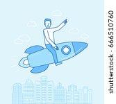 vector illustration and... | Shutterstock .eps vector #666510760
