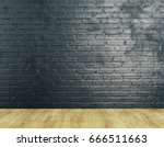 unfurnished room interior with... | Shutterstock . vector #666511663