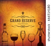 wine list design. vector... | Shutterstock .eps vector #666514180